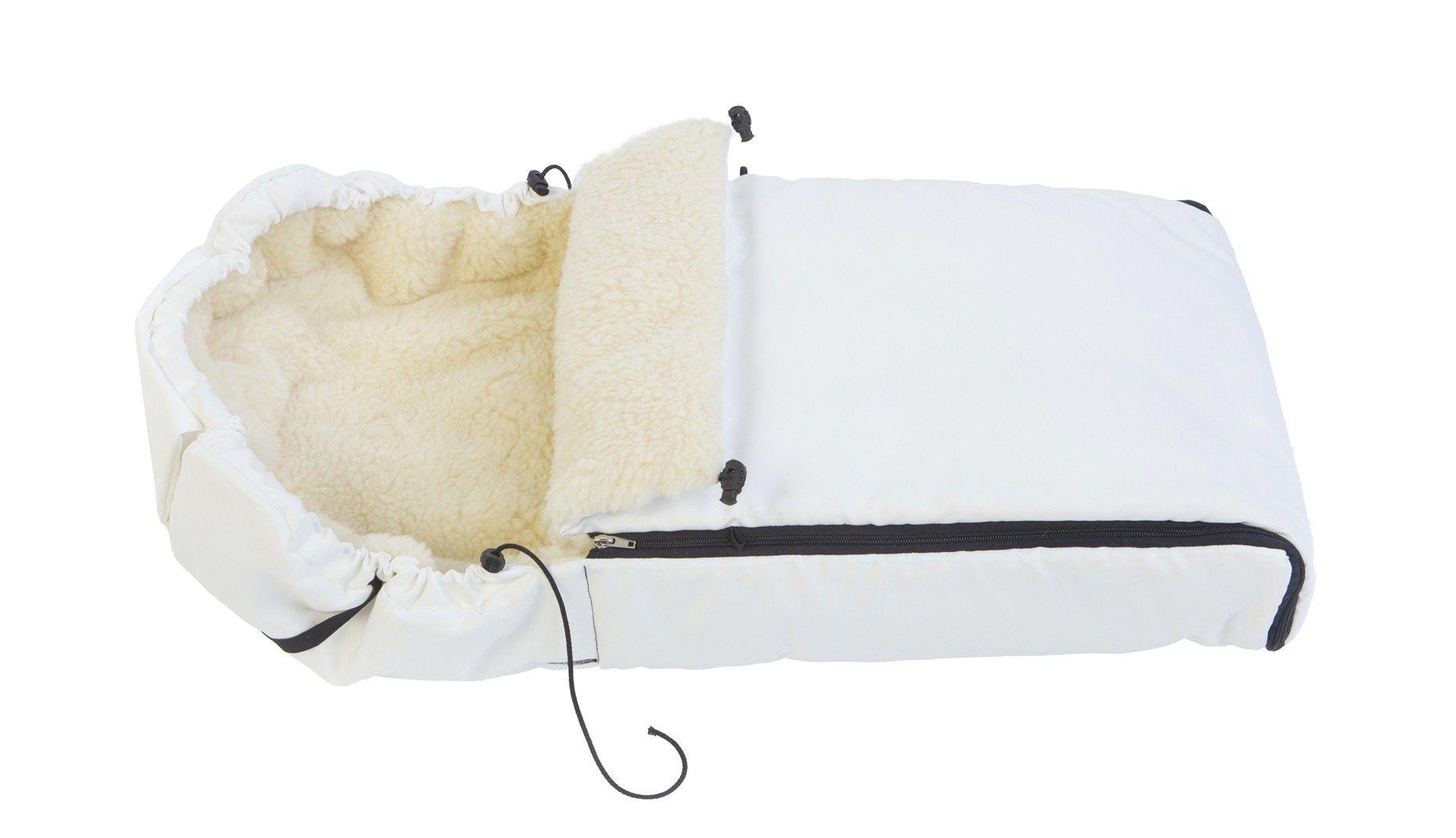 Меховой конверт - белый